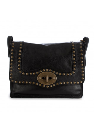 WOMEN'S CROSSBODY BAG REHARD | VINTAGE BLACK LEATHER