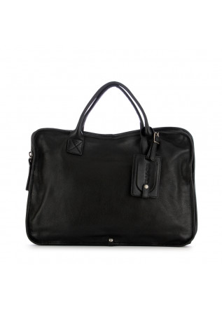 unisex handbag rehard laptop black real leather