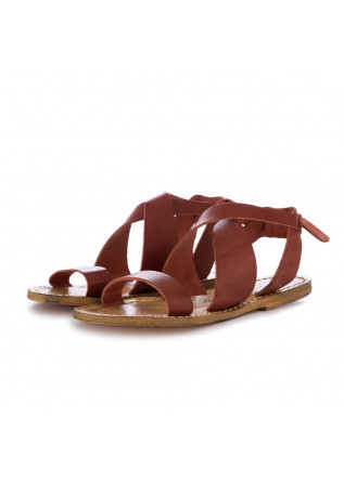 damen sandalen l'artigiano del cuoio chianti braun leder