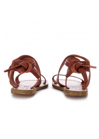 WOMEN'S SANDALS L'ARTIGIANO DEL CUOIO | CHIANTI BROWN LEATHER