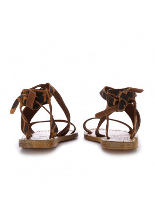 WOMEN'S SANDALS L'ARTIGIANO DEL CUOIO | ANIMALIER BROWN