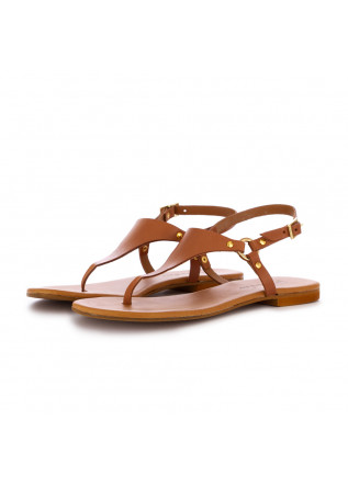 women's sandals frenesia thong brown leather