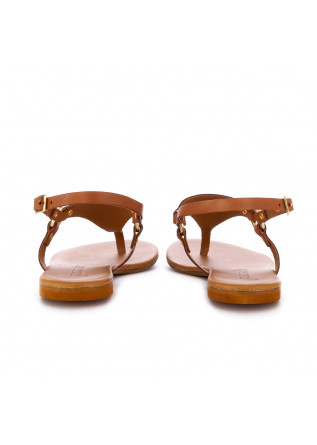WOMEN'S SANDALS FRENESIA | THONG BROWN LEATHER