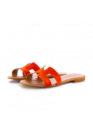 women's sandals frenesia orange suede