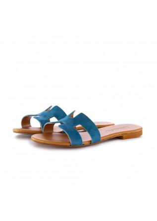 women's sandals frenesia light blue suede