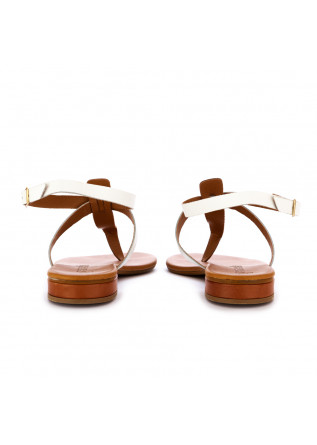 WOMEN'S SANDALS FRENESIA | BROWN WHITE LEATHER