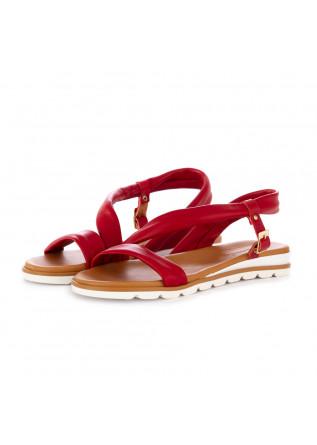 sandali donna frenesia rosso pelle nappa