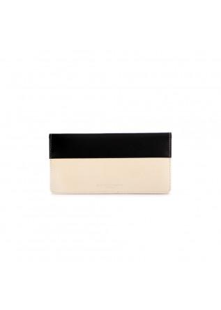 portafoglio donna gianni chiarini  nero beige pelle
