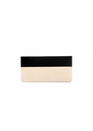women's wallet gianni chiarini black beige leather