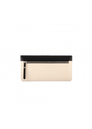 WOMEN'S WALLET GIANNI CHIARINI | BLACK BEIGE LEATHER