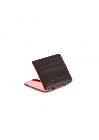 men's wallet vip flap double brown orange