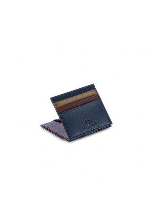 MEN'S WALLET VIP FLAP | BLUE BORDEAUX ECRU
