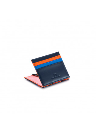 men's wallet vip flap blue orange light blue