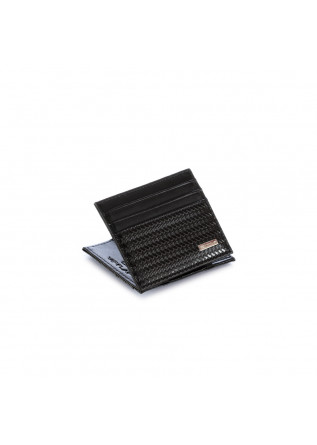 men's wallet vip flap herringbone black