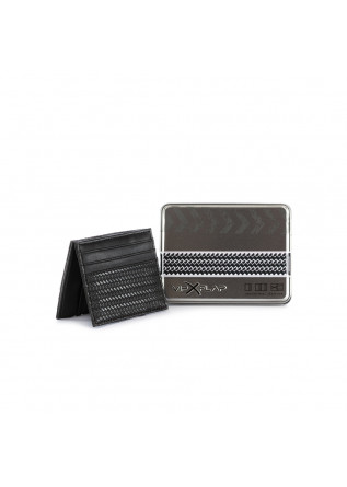 MEN'S WALLET VIP FLAP | HERRINGBONE BLACK