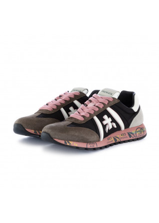 women's sneakers lucyd premiata black pink grey