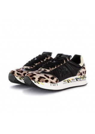 women's sneakers conny premiata black beige spotted