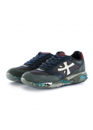 men's sneakers zaczac premiata blue grey bordeaux