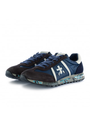 men's sneakers lucy premiata blue brown