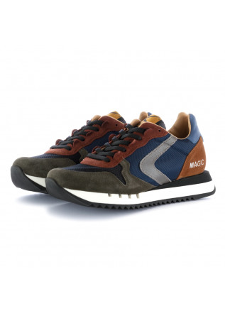 sneakers uomo magic run valsport blu marrone verde