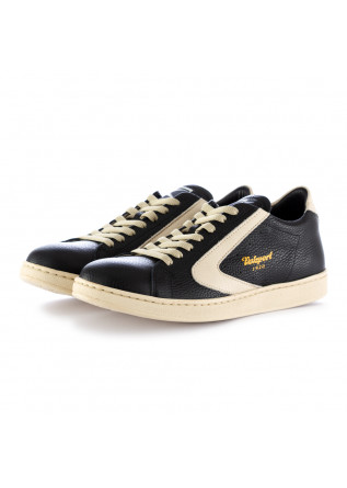 men's sneakers valsport 1920 black beige leather