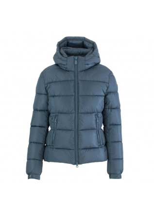 women's jacket save the duck megay light blue
