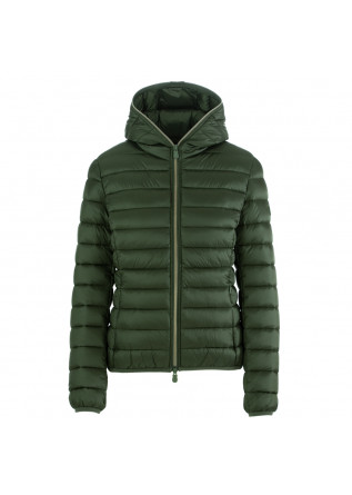 women's puffer jacket save the duck irisy green