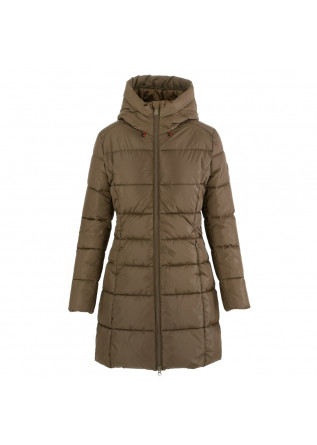 women's puffer jacket save the duck megay brown