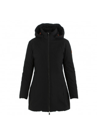 women's puffer jacket save the duck matty black