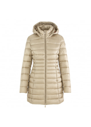 women's puffer jacket save the duck irisy beige