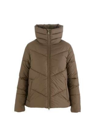women's puffer jacket save the duck recy brown
