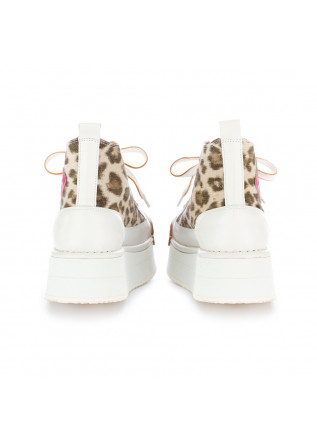 DAMEN KEILSCHUHE BNG REAL SHOES | WEIß LEOPARDMUSTER