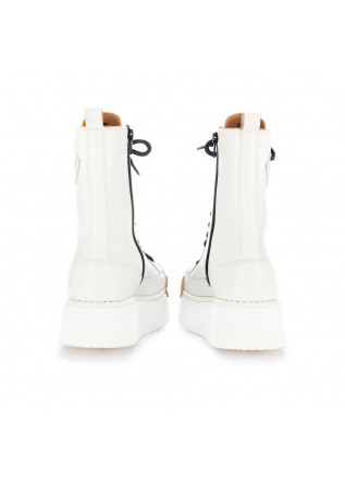 WOMEN'S BOOTS BNG REAL SHOES   WHITE LEATHER