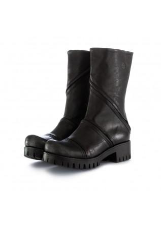 stivali donna papucei abana nero pelle