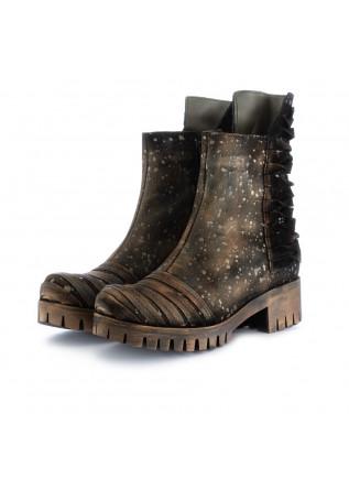 stivali tronchetto donna papucei rudi bronzo pelle