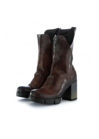 women's boots papucei boston brown leather