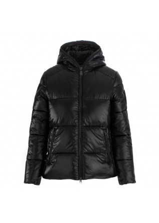 women's puffer jacket save the duck lucky black