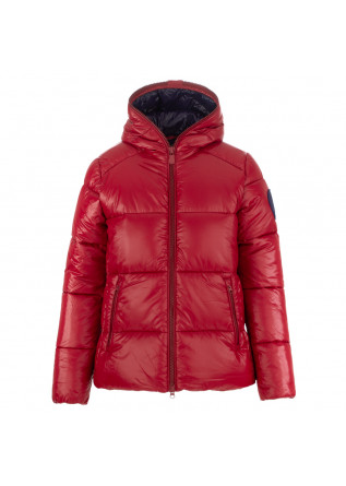 women's puffer jacket save the duck lucky red