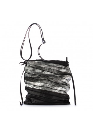 women's shoulder bag papucei black silver