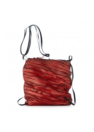 women's shoulder bag papucei red leather