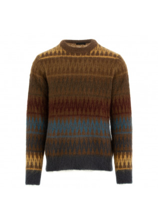 men's sweater roberto collina multicolour pattern