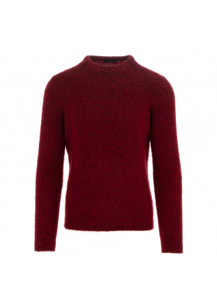 men's sweater roberto collina dark red