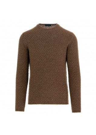 men's sweater roberto collina brown