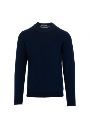 maglione uomo wool and co blu scuro lana