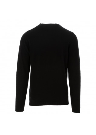 MEN'S SWEATER WOOL & CO | BLACK CASHMERE WOOL