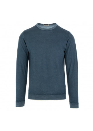 herren pullover wool and co blau merino wolle