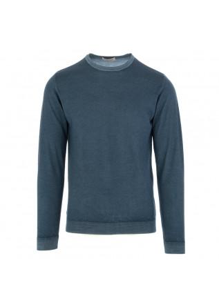 maglione uomo wool and co blu lana merino