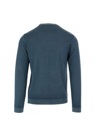 MEN'S SWEATER WOOL & CO | BLUE MERINO WOOL