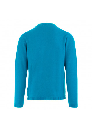 MEN'S SWEATER DANIELE FIESOLI | LIGHT BLUE MERINO WOOL