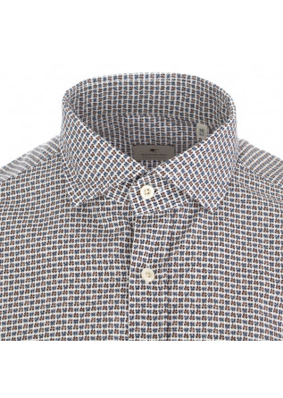 MEN'S SHIRT BASTONCINO | BLUE BROWN